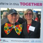 Arnold Huffman w/ Denise Hardenne at the MDHF #OurHomeOurHospital event