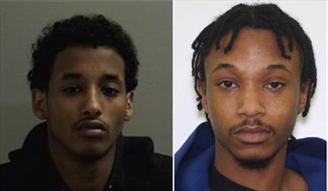 Ahmed Ismail and Stanley Frempong, both wanted by police in relation to the death of 16-year-old Brampton teen, Ezekiel Agyeman.