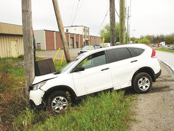 There were no serious injuries in a two-vehicle crash on Bronte Street North, near the train tracks.