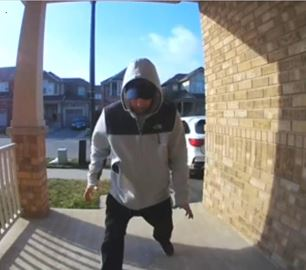 Porch Pirate in Milton caught on camera.
