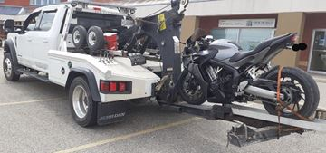 This motorcycle has been impounded in Milton after police say it was clocked at 119 km/h in a 50 km/h zone on Monday (April 27).