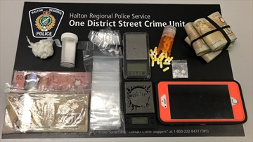 On May 6, 2020, Halton Regional Police seized crack-cocaine, cocaine, heroin, and $12,000 in Canadian currency after executing four search warrants in Milton and Mississauga.