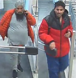 Halton Police are looking to identify two men suspected of stealing nearly $500 of alcohol from a Milton LCBO.May 22, 2020.
