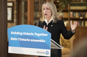 Dr. Merrilee Fullerton, minister of long-term care, visits the Village of Tansley Woods to announce the government is following recommendations from the Public Inquiry into the Safety and Security of Residents in the Long-Term Care Homes System.