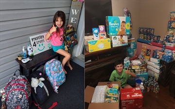 Juliana and Jean-Paul Loforte coordinated a couple of drives through Stuffies 4 Smiles leading up to their birthdays. Juliana, 7, collected backpacks filled with school supplies, masks and hand sanitizer. Jean-Paul, 9, collected items for the Milton Community Resource Centre's infant food drive.